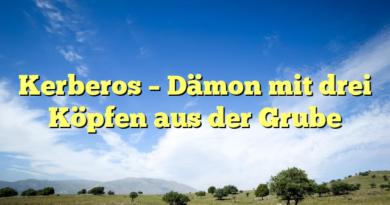 Kerberos – Dämon mit drei Köpfen aus der Grube