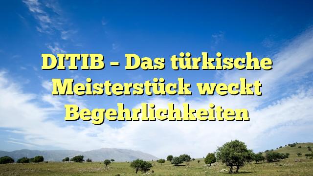 DITIB – Das türkische Meisterstück weckt Begehrlichkeiten