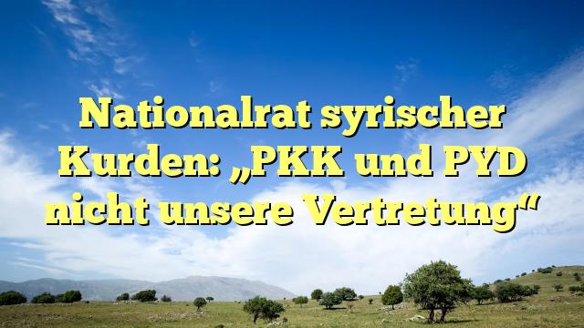 """Nationalrat syrischer Kurden: """"PKK und PYD nicht unsere Vertretung"""""""