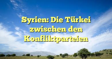 Syrien: Die Türkei zwischen den Konfliktparteien