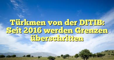 Türkmen von der DITIB: Seit 2016 werden Grenzen überschritten