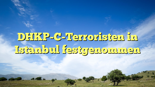 DHKP-C-Terroristen in Istanbul festgenommen