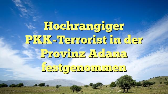 Hochrangiger PKK-Terrorist in der Provinz Adana festgenommen