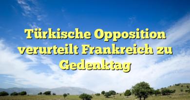 Türkische Opposition verurteilt Frankreich zu Gedenktag