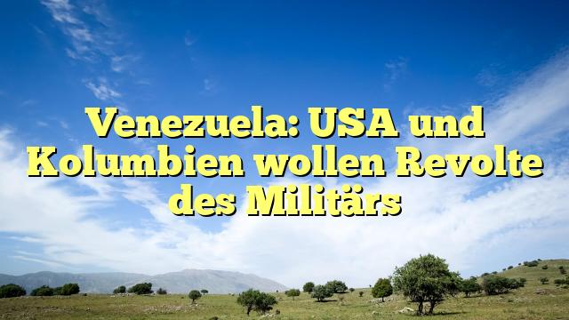 Venezuela: USA und Kolumbien wollen Revolte des Militärs