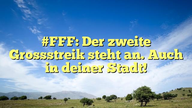 #FFF: Der zweite Grossstreik steht an. Auch in deiner Stadt!