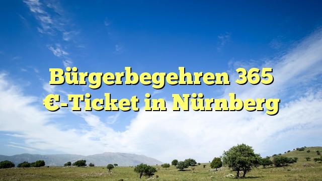 Bürgerbegehren 365 €-Ticket in Nürnberg