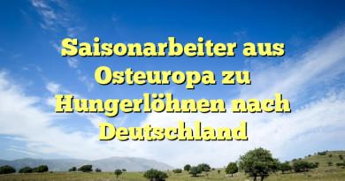 Saisonarbeiter aus Osteuropa zu Hungerlöhnen nach Deutschland