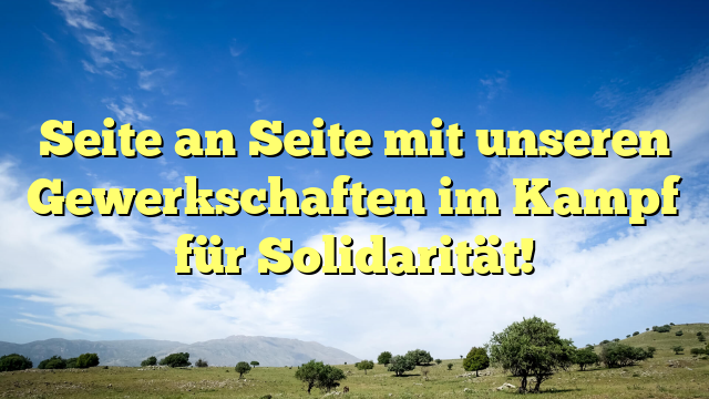 Seite an Seite mit unseren Gewerkschaften im Kampf für Solidarität!