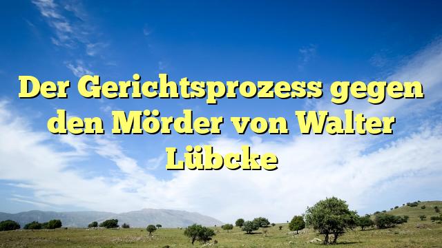 Der Gerichtsprozess gegen den Mörder von Walter Lübcke