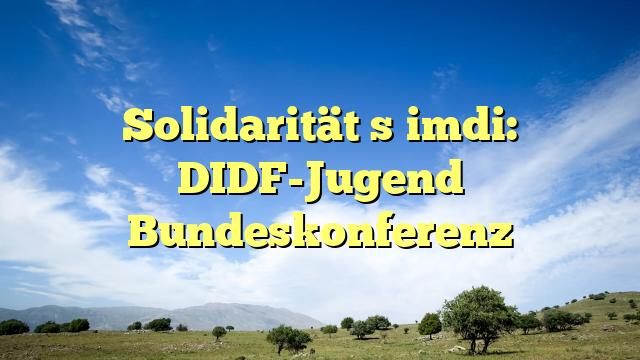 Solidarität şimdi: DIDF-Jugend Bundeskonferenz